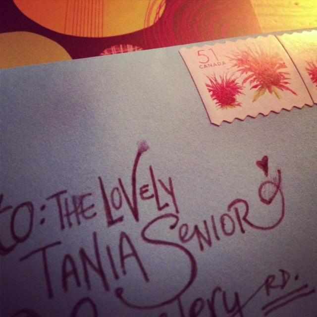 my first self penned artists letter!